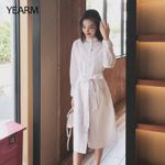 Fashion Vintage Elegant Casual Solid White Blouse Dresses