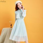 Elegant Ruffles Peter pan Collar Dresses