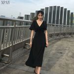 Black Short Sleeve Elegant Leisure Fashion Dress