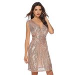 Elegant Sequin Cocktail Prom Party Dress