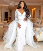 Mermaid Wedding Dress With Detachable Skirt