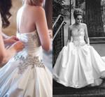 Elegant Luxury Satin Wedding Dress