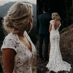 Modest Boho Mermaid Wedding Dress