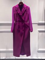 plus size blazer dress double breasted long sleeve
