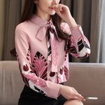 chiffon shirts for women bow laides tops