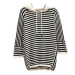 loose casual striped hoodies sweatshirt