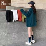 Long Style Sweatshirt Round Neck Female Sweatshirts