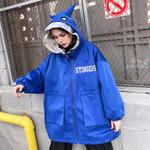 Plus Size Hooded Jacket Streetwear Hip Hop