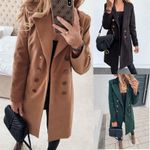 Coats and Jackets Double Breasted Long Coat