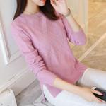 fashion round neck pullover sweater
