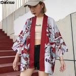 Tops Cardigan Lady Style Blouse Beach T-shirt Kimonos