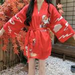 Student Coat Cardigan Kimono Loose Thin Outer