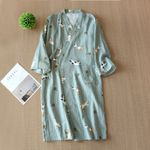 Cotton Bathrobe Loose Pajamas Couple Home Kimonos