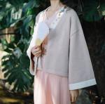 kimono sweater Short Embroidery