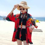 Seabeach Travel Thin Coat Fashion Bathrobe Kimono