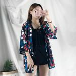 Thin Coat Fashion Bathrobe Printing Kimono