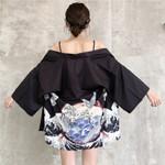 Top Fashion Crame Print Thin Coat  Beach Dresses