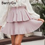 Elegant ruffled pleated skirt holiday fashion