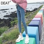 Jeans Nine Point Waist Slim Fit Fashion Pencil Pants