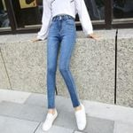 Vintage Slim Style Pencil Jean High Quality Denim Pants