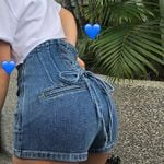 Fashion Denim Shorts High Waist Micro Mini Jean