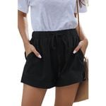 Casual Shorts Pleated Pocket Elastic Lace-up