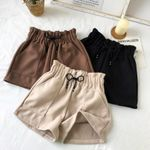 Shorts High Waist Solid Casual Loose Thick Warm
