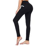 Polyester Pants With Pockets High Waist Leggings
