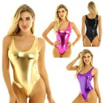 Sleeveless body latex Bodycon Clubwear Bodysuit