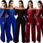 Elegance Plus Size Jumpsuits Coveralls Sexy Line