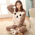 Flannel Pajamas Sets Sleepwear Cute Animal