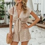 Sexy elegant bow sleeveless wide leg rompers