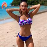 Bikinis Sexy Patchwork Bikini Stripe Swimsuit
