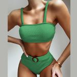 NEW Ribbed Swimsuit High Waist Bikini