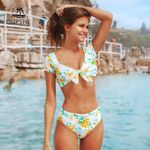 Sweet Floral Bowknot Tank Top Bikini