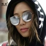 Style New Style Cat's Eye Metal Trim Sun Glasses