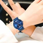 Watch LIGE Top Brand Luxury Ladies Mesh Belt