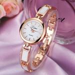 Unisex Stainless Steel Rhinestone Quartz Wrist Watch