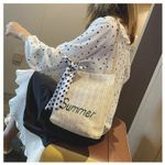 Hot Selling Fashion Bucket Straw Single-shoulder Bag