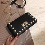 Fashion Solid Color Shoulder Messenger Bag