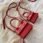 Mini Pu Leather Crossbody Small Square Bag