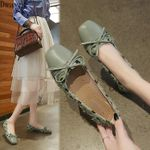 new wild flat shallow mouth gentle retro style single shoes