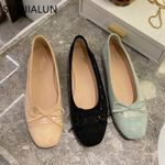 Ballet Flat Shoes Bow-knot Round Toe Slip On Loafers