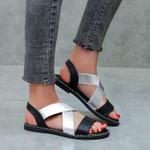 Classic Elastic Band Ladies Flat Sandals