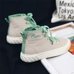 Canvas Shoes Casual Breathable Solid High Top Sneakers
