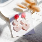 New Style Fashion Elegant Cute Pink Heart Earrings