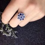Genuine Natural And Real Sapphire Ring