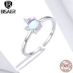 Sterling silver Licorne rings open size