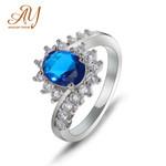 Jewelry Rings Sapphire Ruby Emerald Flower
