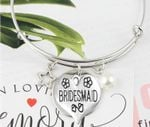 Wedding Party Gift Bridesmaid Star Pearl Charm Bracelet